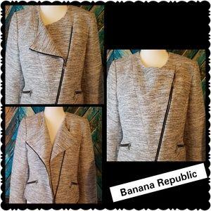 Rare Banana Republic Moto style Womens Jacket 10p